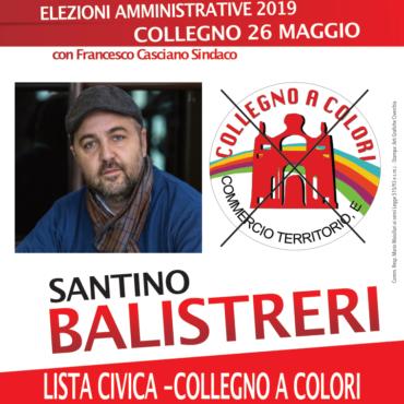 Balistreri Santino - Lista civica Collegno a Colori - elezioni amministrative 2019 Comune di Collegno